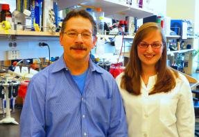 Don Kohn and Megan in the lab