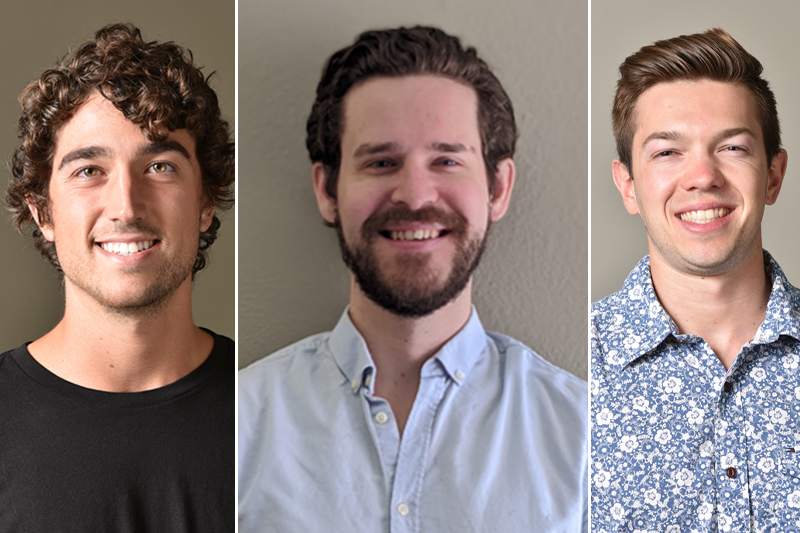 Left to Right: Study authors Luke Riggan, Professor Tim O'Sullivan and Andrew Hildreth.