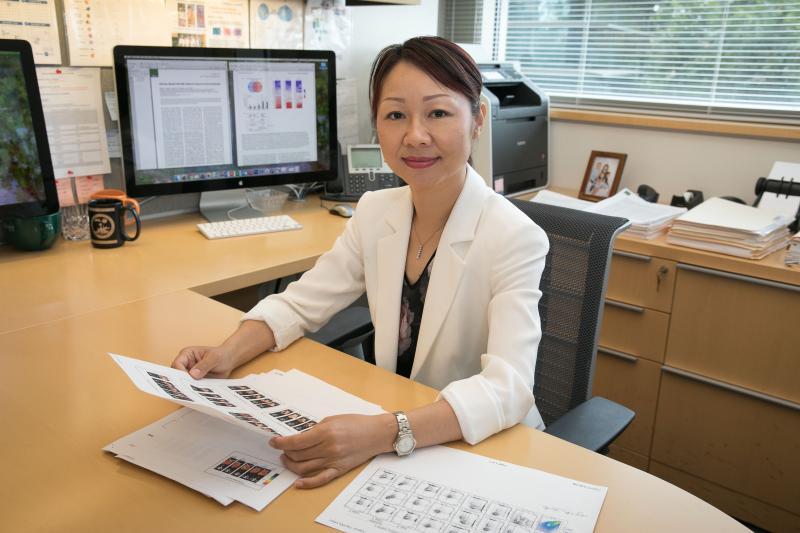Lili Yang at Desk