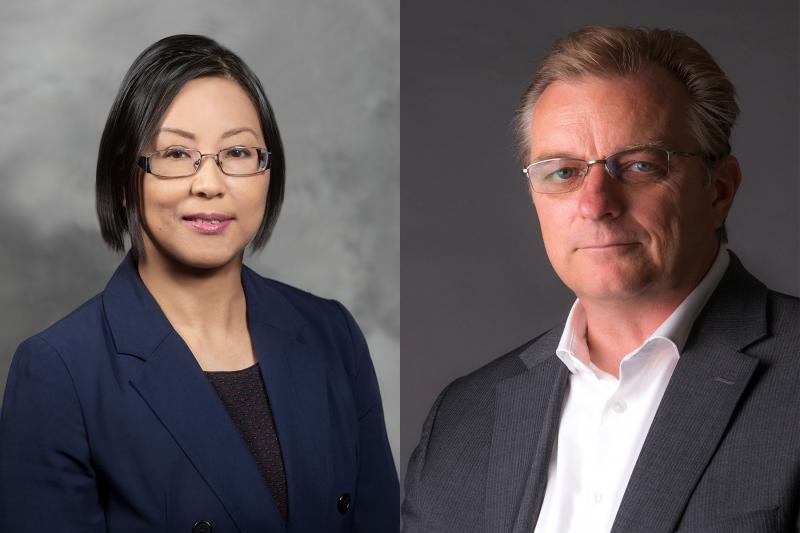 Leia Nghiemphu and Dr. Frank Pajonk