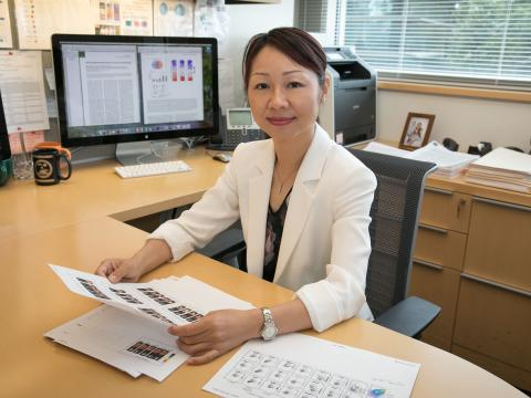 Lili Yang at Desk