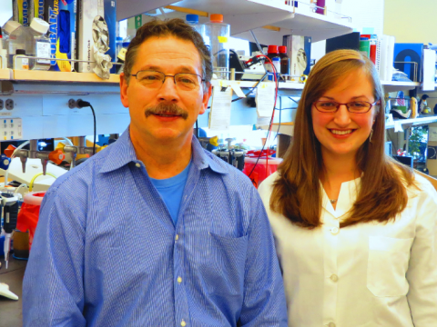 Dr. Donald Kohn in the lab with Megan Poto