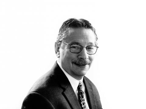 Portrait of Dr. Donald Kohn in black and white