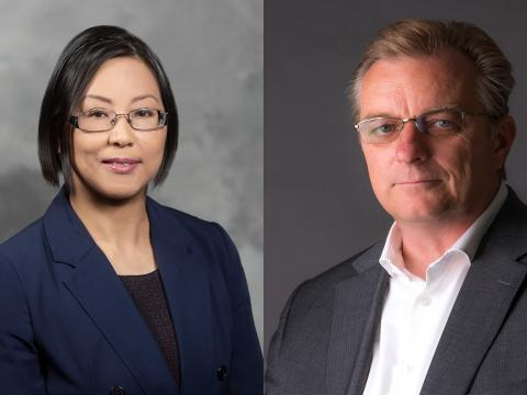 Leia Nghiemphu and Dr. Frank Pajonk